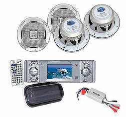 PYLE PLDMR3U In-Dash Marine CD/DVD Receiver with 3-Inch Buil