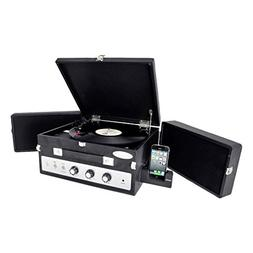 Updated Portable Suitcase Record Player - 3-Speed Turntable