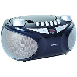 Sylvania Portable Cassette, CD, AM/FM Radio Boombox, with Ca