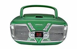 Sylvania Portable CD Boombox with AM/FM Radio, Retro Style,