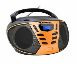 Portable CD Boombox with AM/FM Radio, Top Loading CD Player
