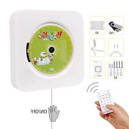 Portable CD Player, Hompie Upgraded Wall Mounted 5-in-1 CD M