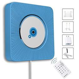 Portable CD Player, Jimwey Bluetooth Wall Mountable CD Music