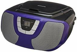 Sylvania Portable CD Player Boom Box with AM/FM Radio  Purpl