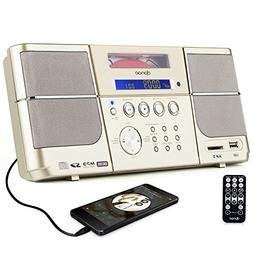 Portable cd Player,Boombox DPNAO with Headphones Jack FM R