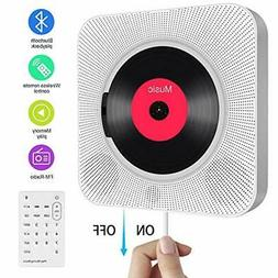 Portable CD Player with Bluetooth,Wall Mountable Built-in Hi