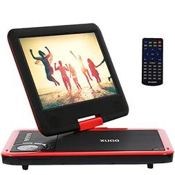 DOUX 9-Inch Screen Portable DVD/CD/MP Player with 5 Hour Bui