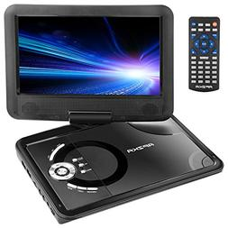 "Apzka 9.5"" Portable DVD Player with Rechargeable Battery, Ga"