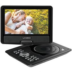 """COOAU 11.5"""" Portable DVD Player with 5 Hour Rechargeable Bat"""