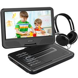WONNIE 12.5 Inch Portable DVD Player with 4 Hour Rechargeabl