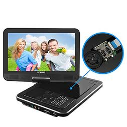 """SYNAGY 10.1"""" Portable DVD Player CD Player with Swivel Scree"""