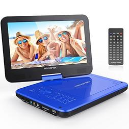 """DBPOWER 10.5"""" Portable DVD Player with Rechargeable Battery,"""