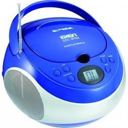 Naxa Portable MP3/CD Player with AM/FM Stereo Radio- Blue