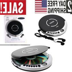 Jensen Portable Personal CD Player Anti Skip FM Bass Boost +