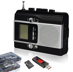 Portable Radio Cassette Player Recorder, Cassette Tape & Rad