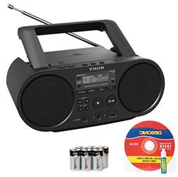 Sony Portable Full Range Stereo Boombox Sound System with MP