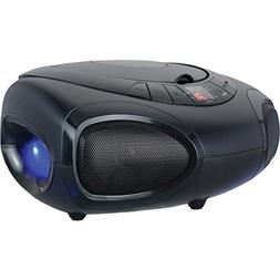 Speaker Boom Box, Blue Led Light Bluetooth Portable Am/fm Ra