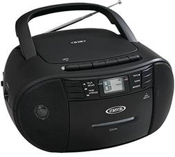 Portable Stereo CD Player with Radio and Cassette Player - B