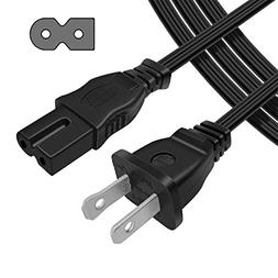 Powseed 6Ft 2 Prong Polarized AC Wall Power Cable Cord Plug