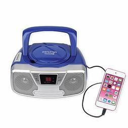 Riptunes Programmable CD Boombox- Portable Boombox, AM/FM Ra