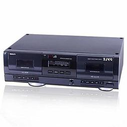 PyleHome PT659DU Dual Stereo Cassette Deck with Tape USB to