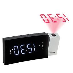 JENSEN JCR-238 Digital Dual Alarm Projection Clock Radio