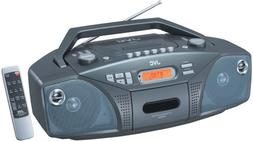 JVC RC-EZ32 Portable Boombox with CD Player, Cassette Deck,