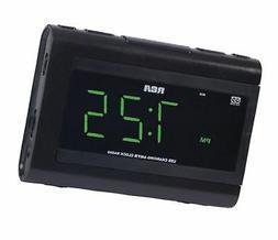 RCA RC142 Desktop Clock Radio - 2 x Alarm - FM, AM - USB