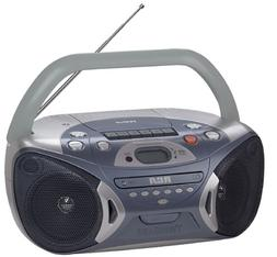 RCA RCD152 Portable CD Boombox with AM/FM Tuner and Cassette