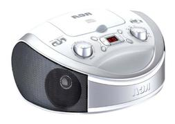 RCA RCD331WH Portable CD Player with AM/FM Radio - White