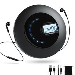 Rechargeable Portable CD Player with Headphones Anti-Skip fo