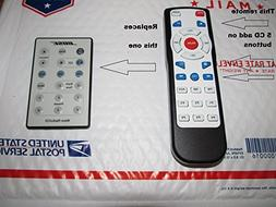 Remote for Bose Acoustic Wave Music System I / CD-3000 with