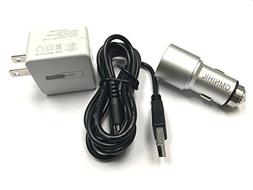 OMNIHIL Replacement 2-Port USB Car and Wall Charger for JENS
