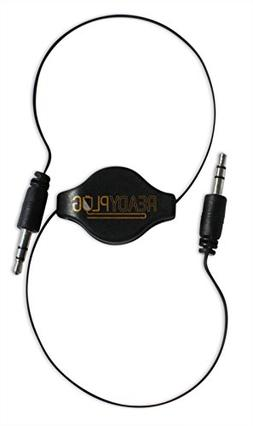 ReadyPlug Retractable 3.5mm Audio Cable for: gpx CD Clock Ra