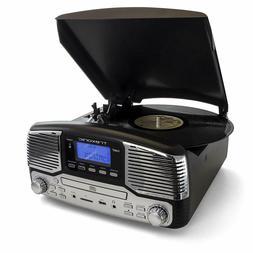 Trexonic Retro 3-Speed Bluetooth Turntable CD Record Player