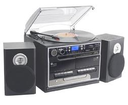 Retro Vintage Bluetooth Wireless Streaming Turntable & Speak