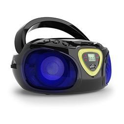 auna Roadie • Portable Boombox • LED light • AM/FM Rad