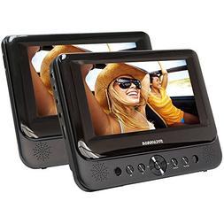Sylvania SDVD7750 Dual 7-Inch Portable LCD DVD Player - Blac