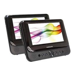 Sylvania SDVD8741 7 Inch Dual Screen Portable DVD/CD/MP3 Pla