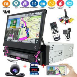 "7"" HD Single 1Din Car Stereo DVD Player GPS Navi Radio Bluet"