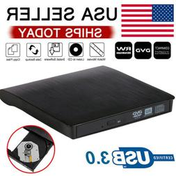 Slim External USB 3.0 CD RW DVD Writer Drive Burner Reader P