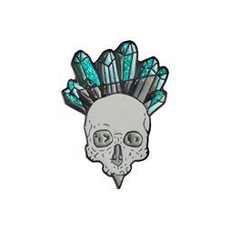 856store Sparkling Skull Enamel Brooch Pin Jeans Jacket Hat