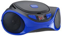 Sylvania SRCD1063BT-BLUE Bluetooth Portable CD Radio Boom Bo