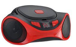 Sylvania SRCD1063BT-RED Bluetooth Portable CD Radio Boom Box