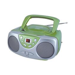 Sylvania Srcd243m Green Portable Cd Radio Boom Box