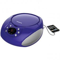 SYLVANIA SRCD261-B-PURPLE Portable CD Players with AM/FM Rad