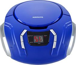 Sylvania SRCD261-Blue Portable CD Boombox with Am/FM Radio