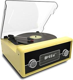 Sylvania SRCD875-YELLOW Turntable with Direct Encoding and U