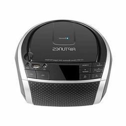 RIPTUNES Stereo Boombox Portable MP3 Music CD Player Bluetoo