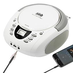 LONPOO Stereo Portable CD Player Boombox with Bluetooth AM/F